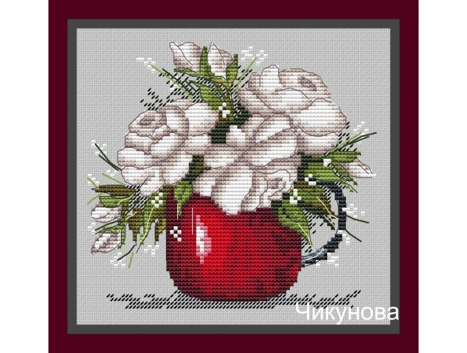 Red Cup Cross Stitch Pattern фото 1