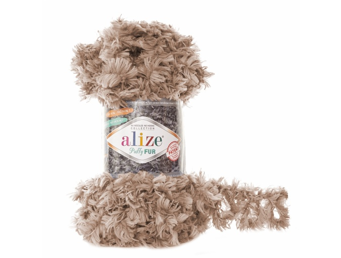 Alize Puffy Fur, 100% Polyester 5 Skein Value Pack, 500g фото 6