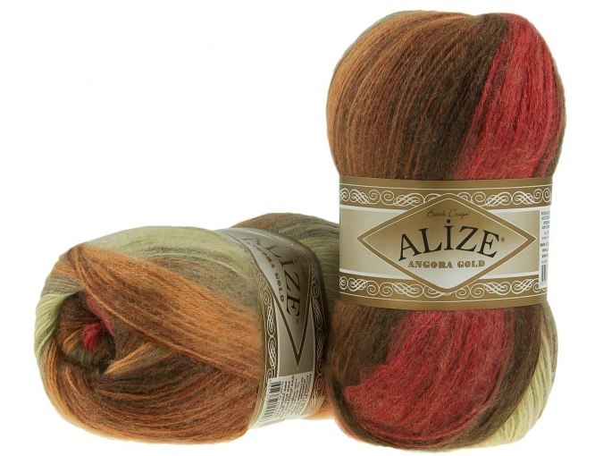Alize Angora Gold Batik, 10% mohair, 10% wool, 80% acrylic 5 Skein Value Pack, 500g фото 55