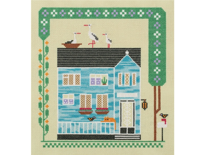 The House Where the Cat Lives Cross Stitch Kit фото 1