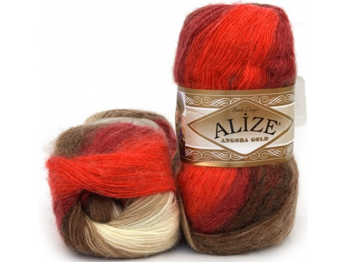 Alize Angora Gold Batik, 10% mohair, 10% wool, 80% acrylic 5 Skein Value Pack, 500g фото 32