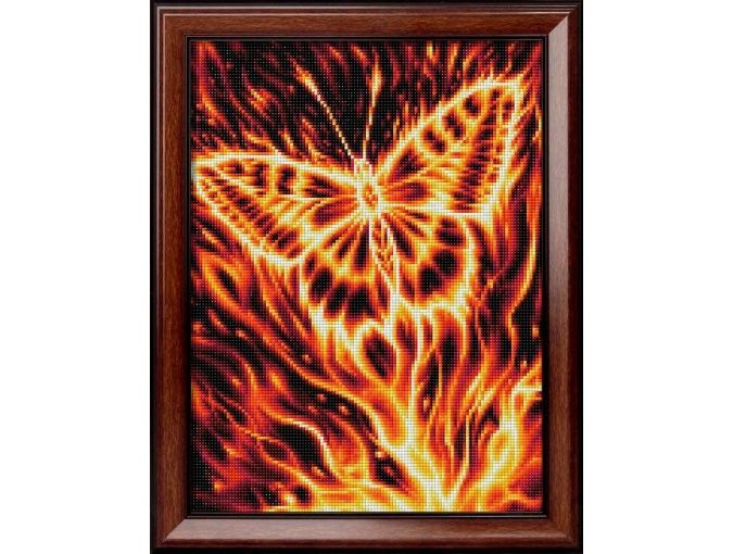 Fire Butterfly Diamond Painting Kit фото 1