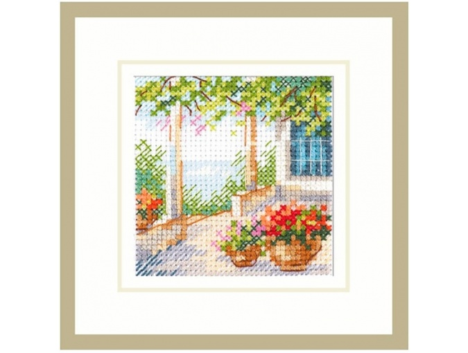 Flower Porch Cross Stitch Kit фото 1