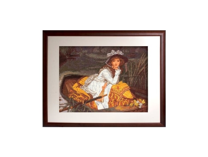 Young Lady in a Boat Cross Stitch Kit фото 2