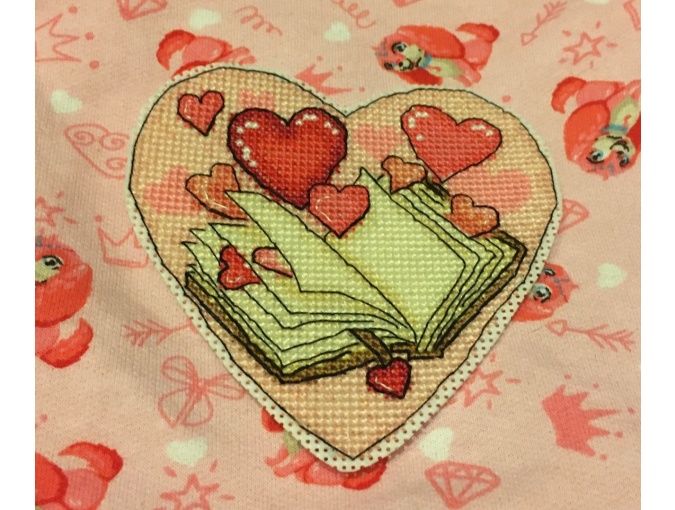 Heart with a Book Cross Stitch Pattern фото 3