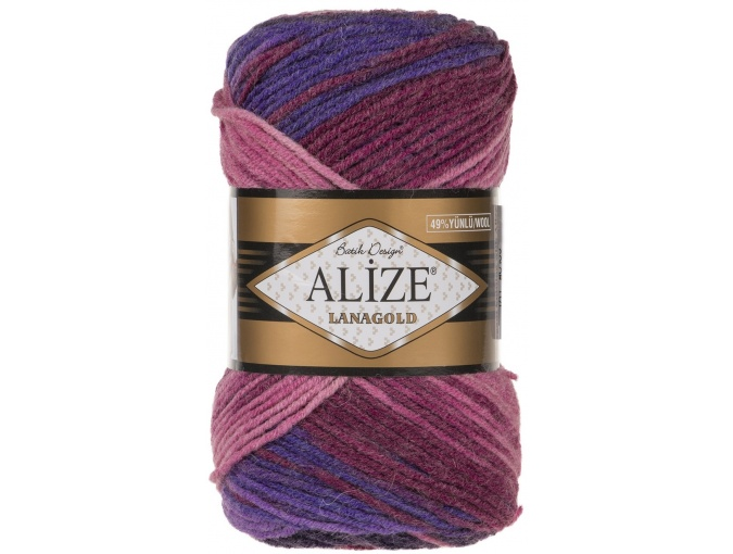 Alize Lanagold Batik 49% Wool, 51% Acrylic, 5 Skein Value Pack, 500g фото 6