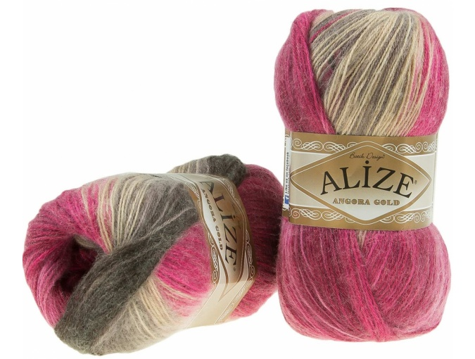 Alize Angora Gold Batik, 10% mohair, 10% wool, 80% acrylic 5 Skein Value Pack, 500g фото 52