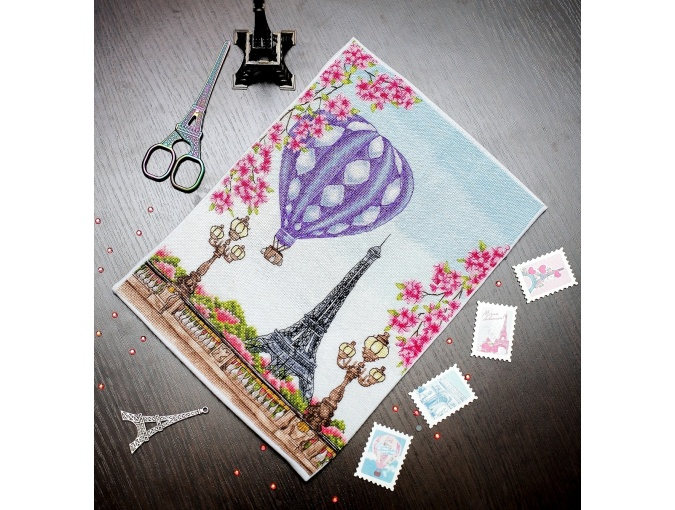 Spring in Paris Cross Stitch Chart фото 3