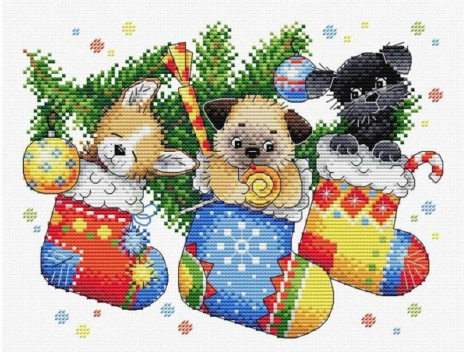 New Year's Surprise Cross Stitch Kit фото 1