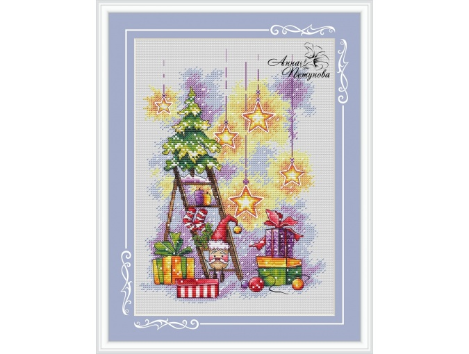 The Holiday Comes to Us Cross Stitch Pattern фото 1