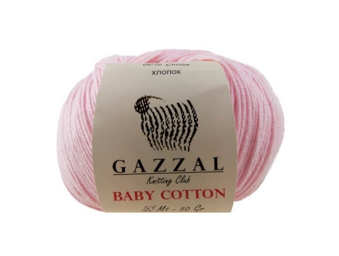 Gazzal Baby Cotton, 60% Cotton, 40% Acrylic 10 Skein Value Pack, 500g фото 4