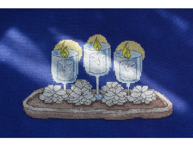 Candles in Glasses Cross Stitch Pattern фото 2