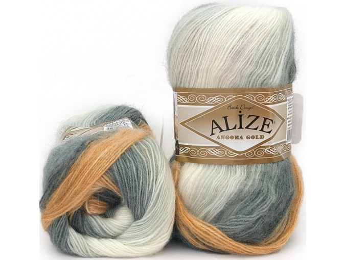 Alize Angora Gold Batik, 10% mohair, 10% wool, 80% acrylic 5 Skein Value Pack, 500g фото 47