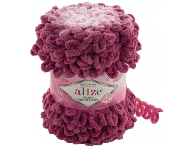 Alize Puffy Ombre Batik, 100% Micropolyester 1 Skein Value Pack, 600g фото 12
