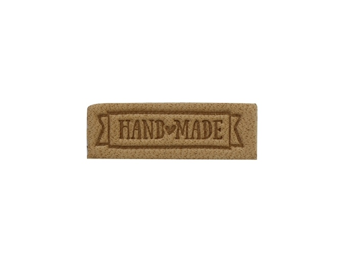 "Label ""Handmade"", leather natural, 2 pcs фото 2"
