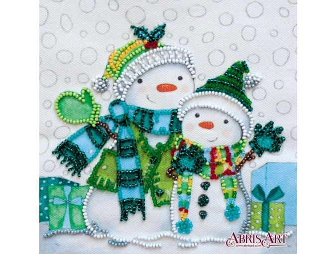 Snow Friends Bead Embroidery Kit фото 1