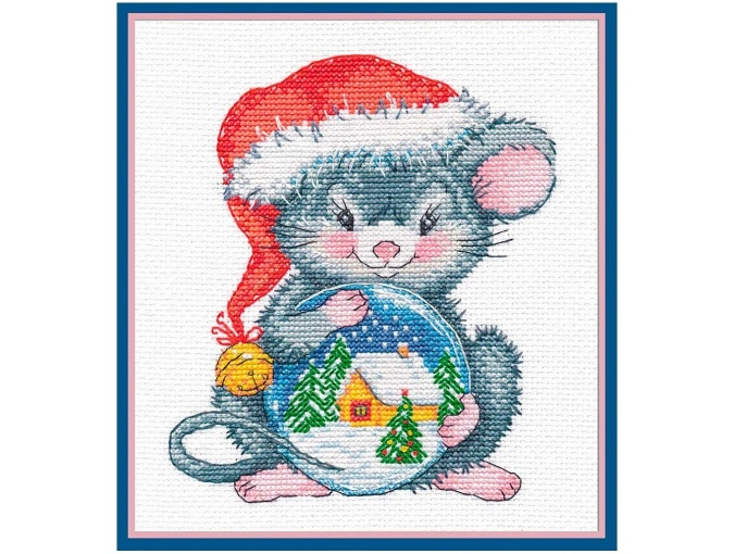 Mousy with a Ball Cross Stitch Kit фото 1