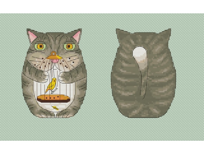 Toy Cat Cross Stitch Pattern фото 1