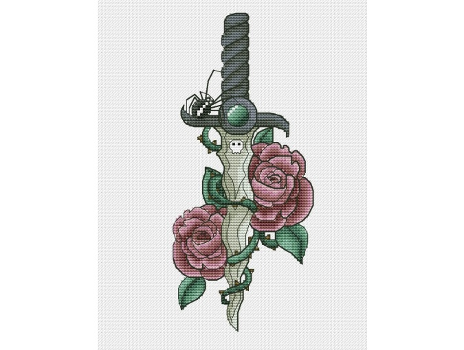 Dagger 2 Cross Stitch Pattern фото 1