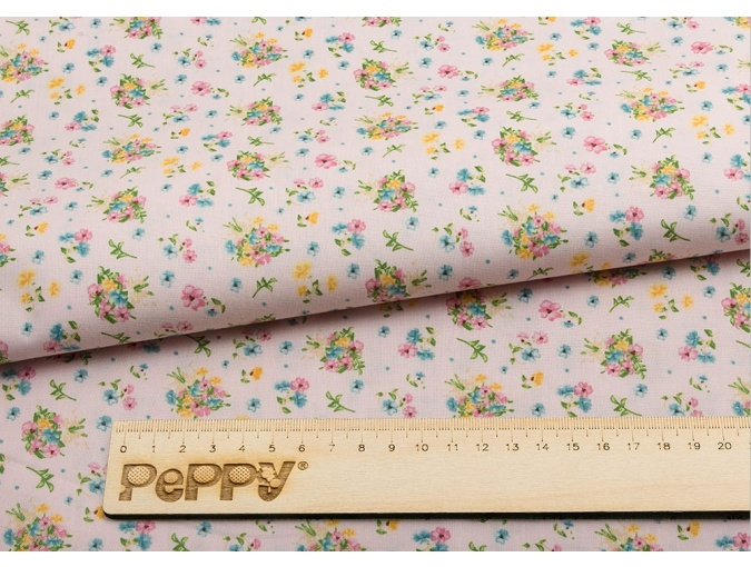 Fat Quarter Peppy, print Pink with Flowers фото 2