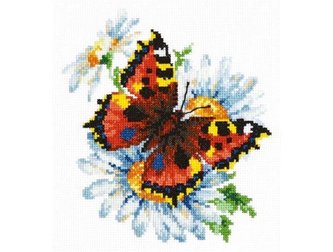 Butterfly & Daisies Cross Stitch Kit фото 1