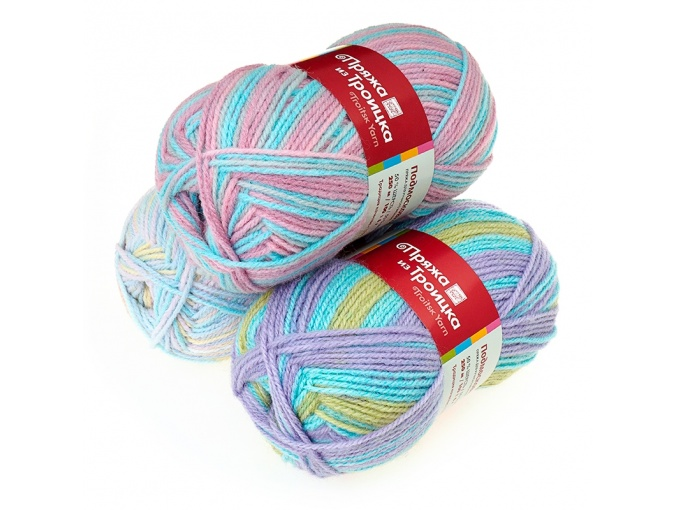 Troitsk Wool Countryside Print, 50% wool, 50% acrylic 10 Skein Value Pack, 1000g фото 1