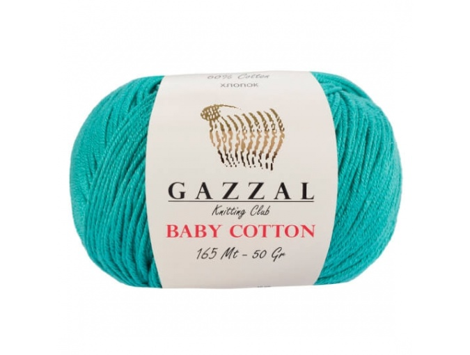 Gazzal Baby Cotton, 60% Cotton, 40% Acrylic 10 Skein Value Pack, 500g фото 34