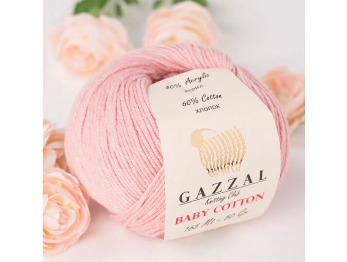 Gazzal Baby Cotton, 60% Cotton, 40% Acrylic 10 Skein Value Pack, 500g фото 70