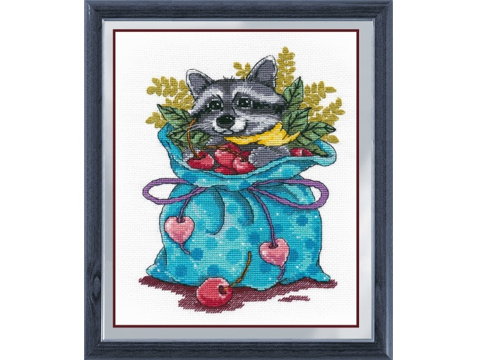 Raccoon Sweet Tooth Cross Stitch Kit фото 1