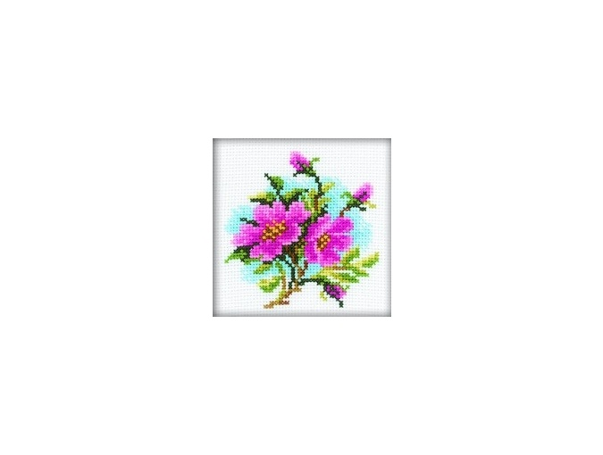 Dog Rose Cross Stitch Kit фото 1