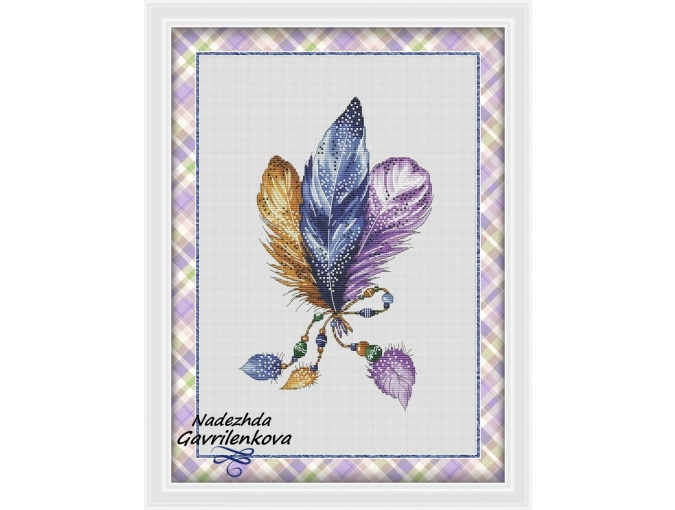 Plumelets Cross Stitch Pattern фото 1