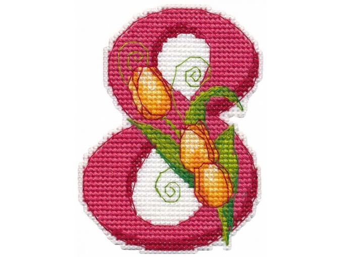 8th of March. Magnet Cross Stitch Kit фото 1