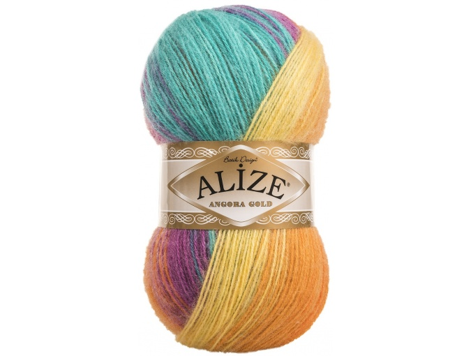Alize Angora Gold Batik, 10% mohair, 10% wool, 80% acrylic 5 Skein Value Pack, 500g фото 66