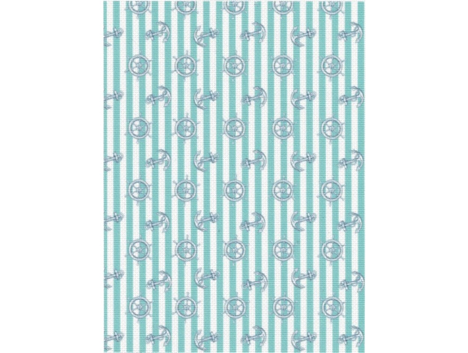 18 Count Aida Designer Fabric by MP Studia Blue Striped фото 1