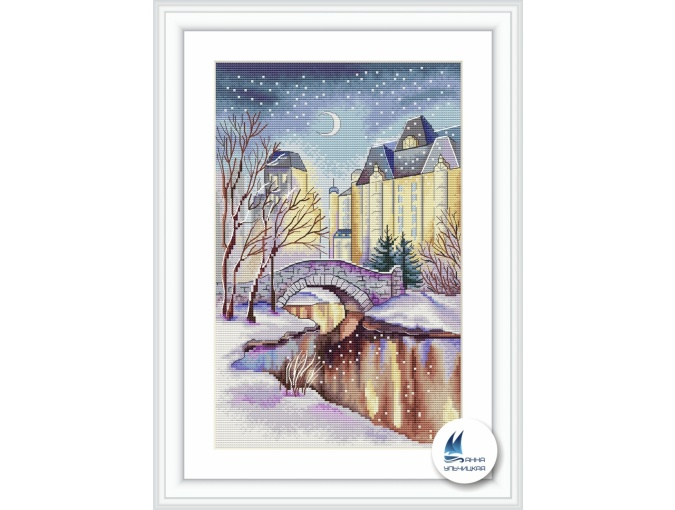 Winter City Cross Stitch Pattern фото 1