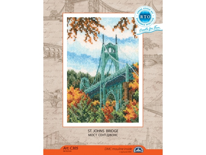 St. Johns Bridge Cross Stitch Kit фото 2