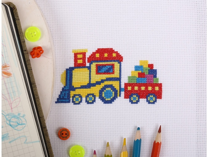 Railway Train Cross Stitch Kit фото 3