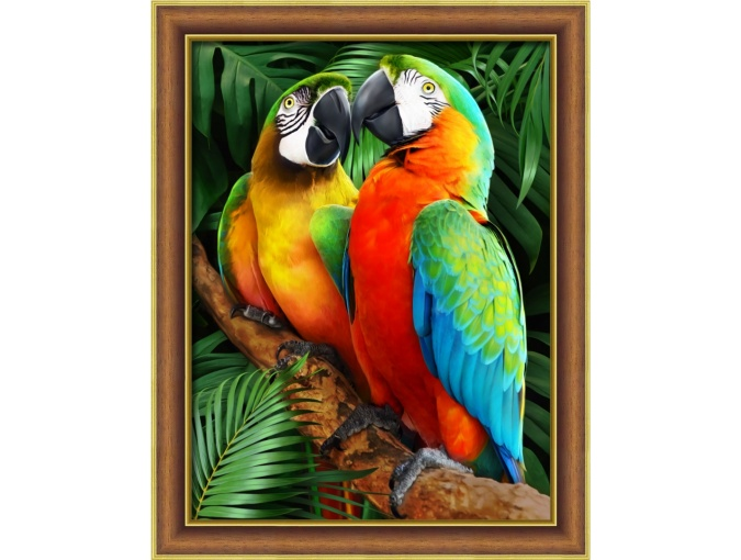 Macaw in the Jungle Diamond Painting Kit фото 1