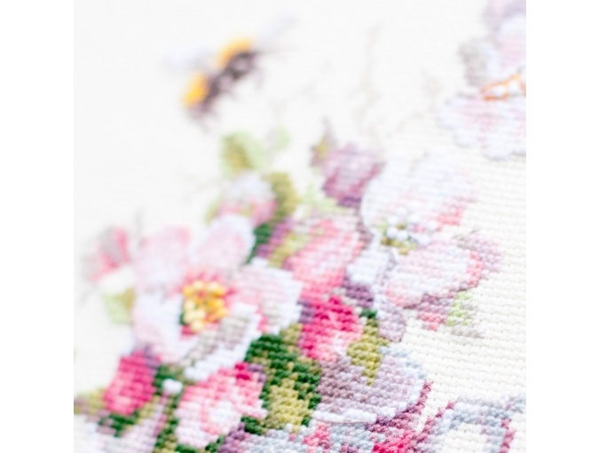 Cup and Apple Blossom Cross Stitch Kit фото 6