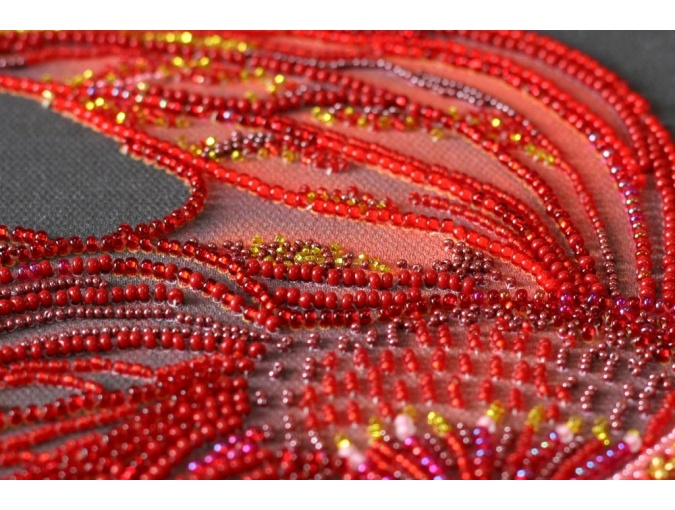 Red Gold Bead Embroidery Kit фото 7