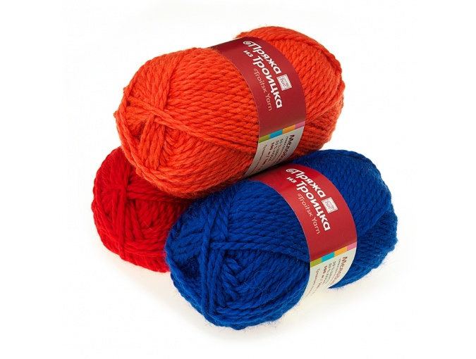 Troitsk Wool Melody, 50% wool, 50% acrylic 10 Skein Value Pack, 1000g фото 1