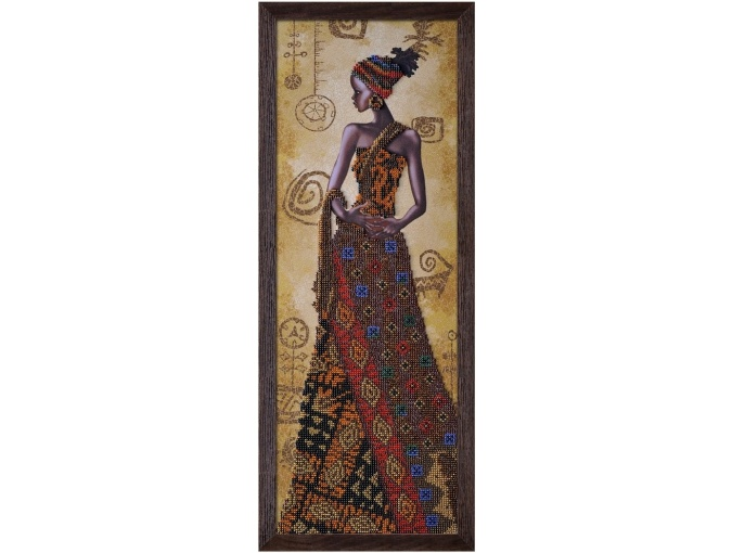 Mysterious African Woman Bead Embroidery Kit фото 1