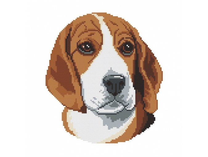 Beagle Cross Stitch Pattern фото 1