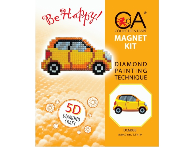 Car Magnet Diamond Painting Kit фото 2