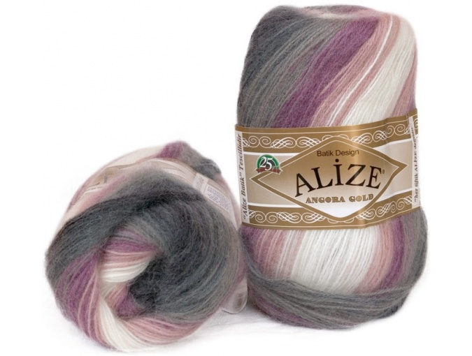 Alize Angora Gold Batik, 10% mohair, 10% wool, 80% acrylic 5 Skein Value Pack, 500g фото 10