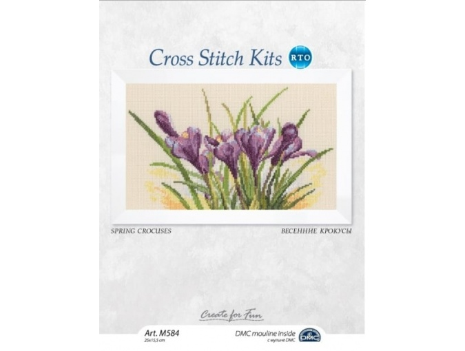 Spring Crocuses Cross Stitch Kit фото 2
