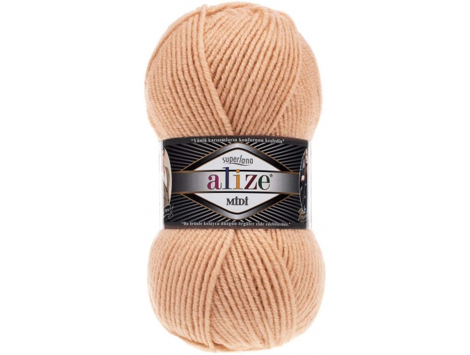 Alize Superlana Midi 25% Wool, 75% Acrylic, 5 Skein Value Pack, 500g фото 35