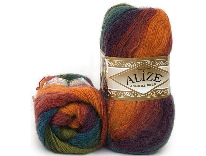 Alize Angora Gold Batik, 10% mohair, 10% wool, 80% acrylic 5 Skein Value Pack, 500g фото 41