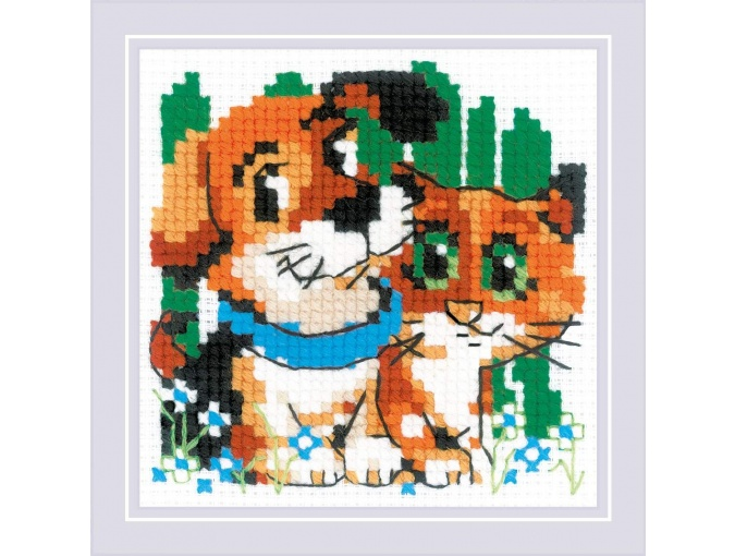 Stick with Me Cross Stitch Kit фото 1