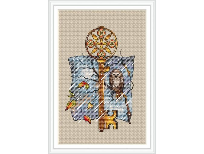 Keys. November Cross Stitch Pattern фото 1